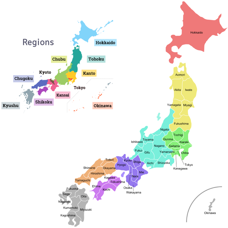 Regions and Prefectures